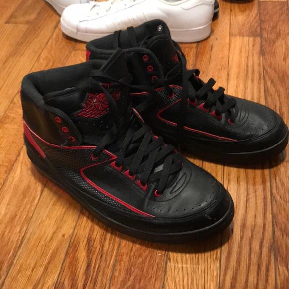 best service 1afa0 9fe55 Men's Jordan retro 2 in black and red‼️👟
